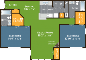 Two bedroom apartments for rent in Stone Mountain